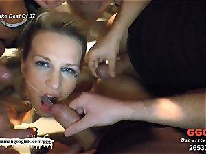 jizm caked faces compilation - German Goo chicks
