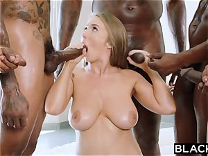 BLACKED Lena Paul first multiracial gangbang
