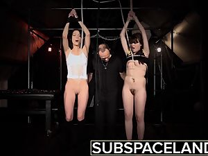 2 hog tied slaves prepped to get humped