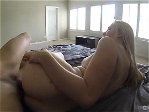 towheaded bathing suit honey Samantha Rone gobbling and dicking