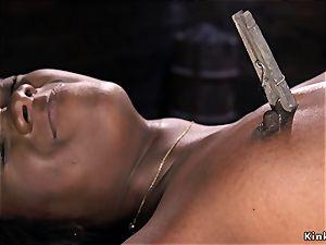 big black ass cropped in device restrain bondage