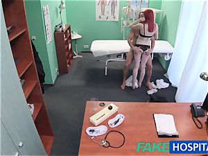 FakeHospital ultra-cute red-haired rails physician for cash