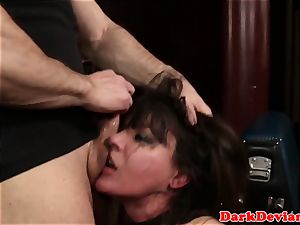 Tiedup dominated submissive facefucked tough