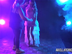 Behind the vignettes erotic shoot with Ariella Ferrera