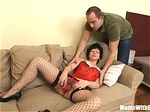 marvelous Mama Eva In Her lingerie tearing up A youthful guy